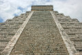 Stairs of el castillo pyramid kukulkan known as in mexico Stock Images