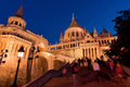 Stairs of Fisherman's Bastion in Budapest Royalty Free Stock Image