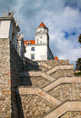 Stairs and gate to the castle of bratislava capital city slovakia europe Stock Image