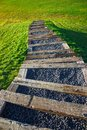 Stairs going down into nature Royalty Free Stock Photo