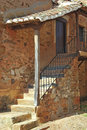 Stairs in a house the entrance of typical spanish rural architecture castrillo de los polvazares león spain Stock Images