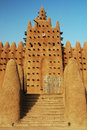 Stairs leading up to Djenne mosque Royalty Free Stock Photo