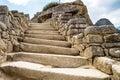 Stairs at Machu Picchu, Cusco, Peru, South America.