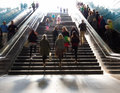 Stairs in the metro citiy Royalty Free Stock Photo