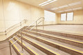 Stairs at a metro railway station Royalty Free Stock Photo