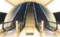 Stairs at a metro railway. Royalty Free Stock Photo