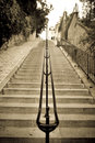 The stairs montmartre classic of in paris artistique picture Royalty Free Stock Image