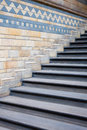 Stairs in natural history museum london architectural detail Royalty Free Stock Photo