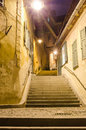 Stairs in old city Royalty Free Stock Photo