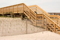 Stairs over the dunes in Fire Island Royalty Free Stock Photo