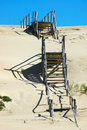 Stairs over sand dunes Royalty Free Stock Photo