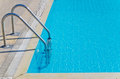 Stairs in pool outdoor swimming Stock Images