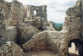 Stairs in ruin of castle Hrusov, Slovakia, cultural heritage