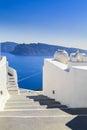 Stairs, Sea view from Santorini island, Greece