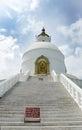 The stairs of Shanti stupa