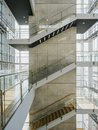 Stairs step Staircase Interior Glass wall Modern building Architecture details Royalty Free Stock Photo