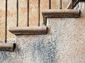 Stairs and stucco walls Royalty Free Stock Photo