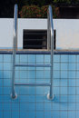 Stairs swimming pool dry. Royalty Free Stock Photo