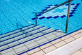 Stairs of the swimming pool Royalty Free Stock Photo