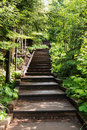 Stairs at Tettegouche State Park Royalty Free Stock Photo