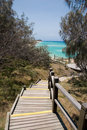 Stairs to the Champagne Pools, Fraser Island Royalty Free Stock Photography