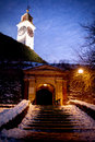 Stairs to Clock Tower Medieval Petrovaradin Fortress Novi Sad Se Royalty Free Stock Photo