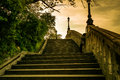 Stairs to the hill gellért budapest hungary Stock Photo