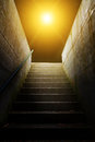 Stairs in to the light abstract photo of a stairway Royalty Free Stock Photo