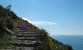 Stairs to the sky near Dubrovnik, Croatia Royalty Free Stock Photo