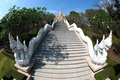 Stairs to temple on the hill. Royalty Free Stock Image