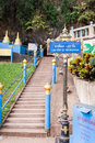 Stairs to tiger cave temple krabi thailand jan at bottom of mountain leading Stock Photo