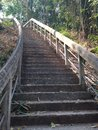 The stairs to the top temple in thailand Stock Photo