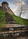 Stairs to the tower of kalemegdan fortress in belgrade serbia southeast europe this is medieval fortress and a park in side Royalty Free Stock Photo