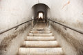 Stairs in the tunnel climbing upwards Royalty Free Stock Photography