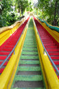 Stairs up the mountain to the temple in thailand Stock Photo