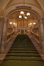 Stairs in the vienna state opera Royalty Free Stock Photo