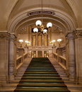 Stairs in the vienna state opera Stock Photo