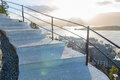Stairs of the viewpoint, ålesund Royalty Free Stock Photo