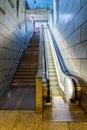 Stairs vs escalator Royalty Free Stock Photo