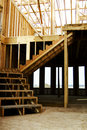 Stairs Wood Framed Home Construction Royalty Free Stock Photos