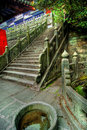 Stairway at Chinese temple Royalty Free Stock Image