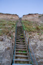 Stairway on the dunes Royalty Free Stock Photo