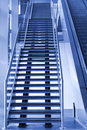 Stairway and Escalator going up Royalty Free Stock Photo