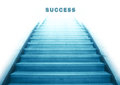 Stairway going up to success text Royalty Free Stock Photo