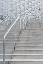 Stairway leading to a modern stadium contemporary architecture Royalty Free Stock Photos