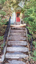Stairway leading to old house