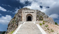 Stairway leading to tunnel and mausoleum of Peter Njegosh, Monte Royalty Free Stock Photo