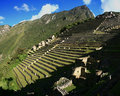 Stairway of Macchu Picchu Royalty Free Stock Photo