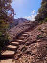 Stairway in Montserrat Mountain, Spain Royalty Free Stock Photo