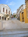 Stairway in old greek city Stock Image